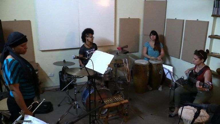 Rehearsal of Banda XX, a women's project in the 32nd edition of the Jazz Plaza Festival.