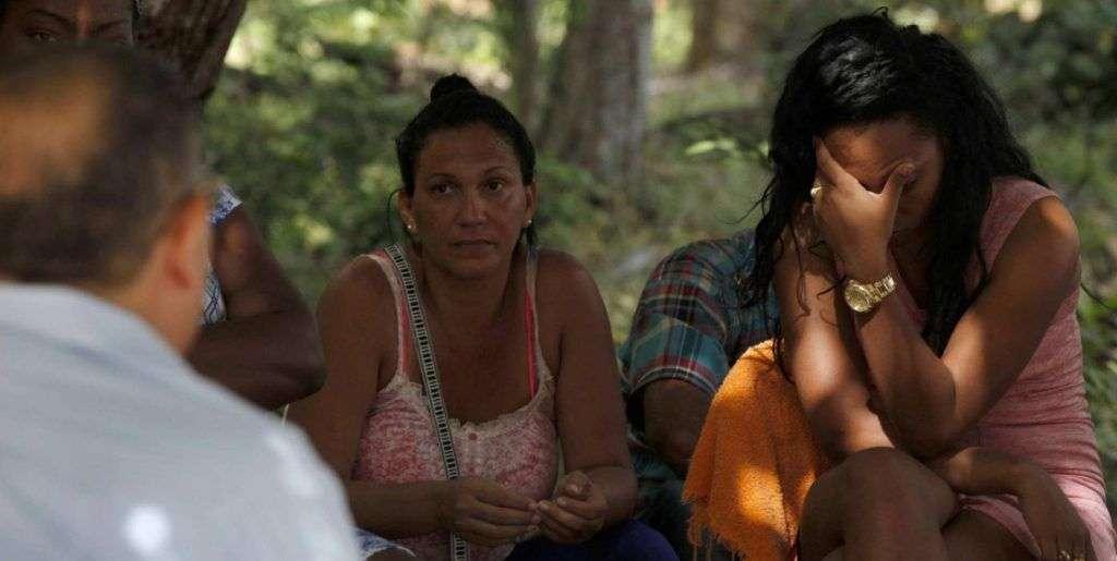 Cubanos en Panamá. Foto: EFE.