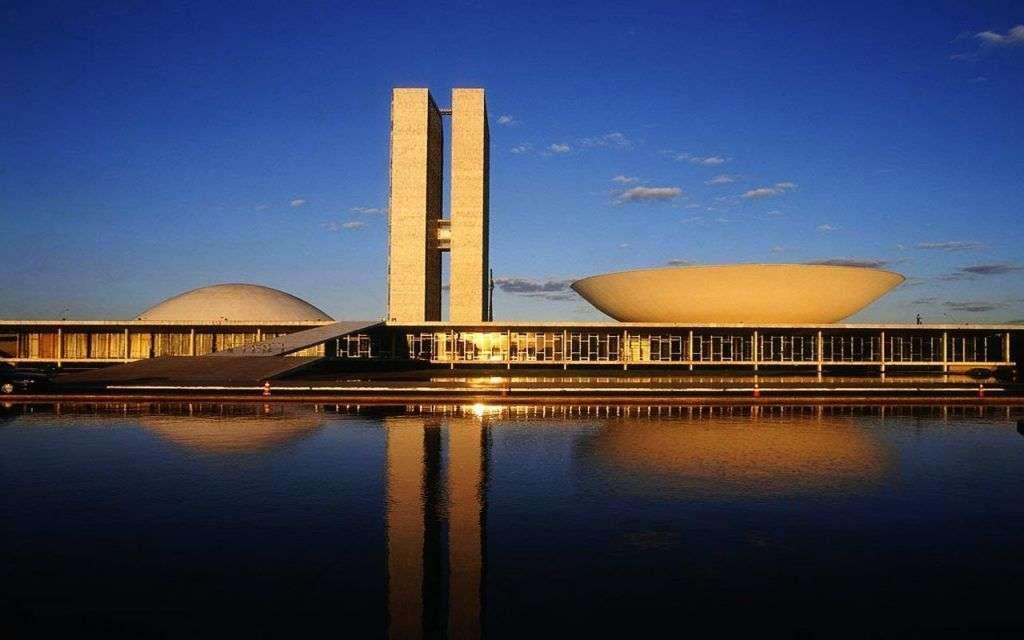 Congreso Nacional de Brasilia, una obra de Oscar Niemeyer.