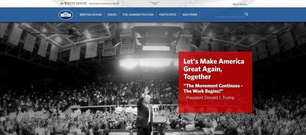 Sitio web de la Casa Blanca.