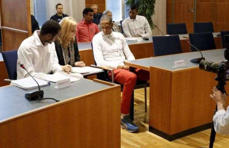 Momento del juicio contra los voleibolistas cubanos. Foto: Kalle Parkkinen / AFP.