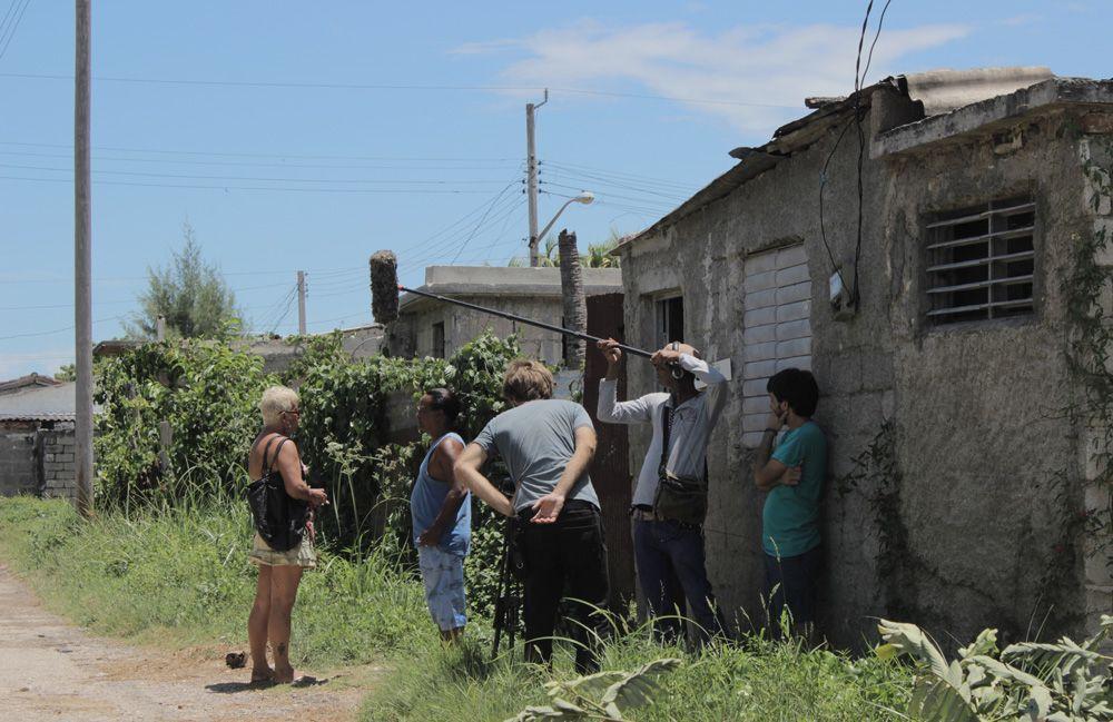 """Rodaje de """"Villa Rosa"""" en Caibarién. Foto: Cortesía de Lázaro J. González."""