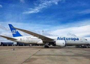 El primer Boeing 787 en La Habana: Foto: Air Europa.