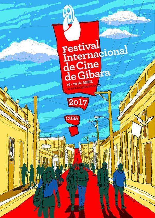 Cartel oficial del Festival de Gibara, diseñado por Miguel LP. Foto: Facebook.