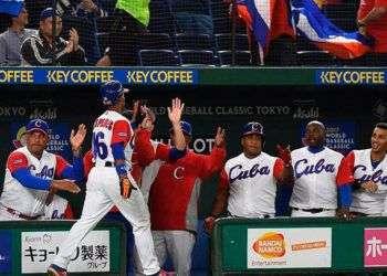 Luego de un inicio incierto, Cuba calentó sus bates frente a China. Foto: info7.mx.