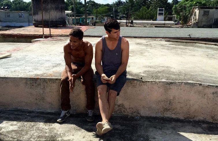 Daniel Romero (derecha) con el también actor Germán Alcolea. Foto: Facebook.