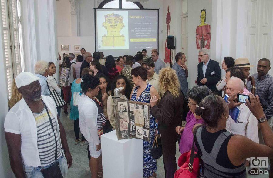 """Encounters"" exhibition of brut artists Misleydis Castillo, Jorge Alberto Hernández, Ramón Losa and Milton Schwartz. Photo: Yander Zamora."