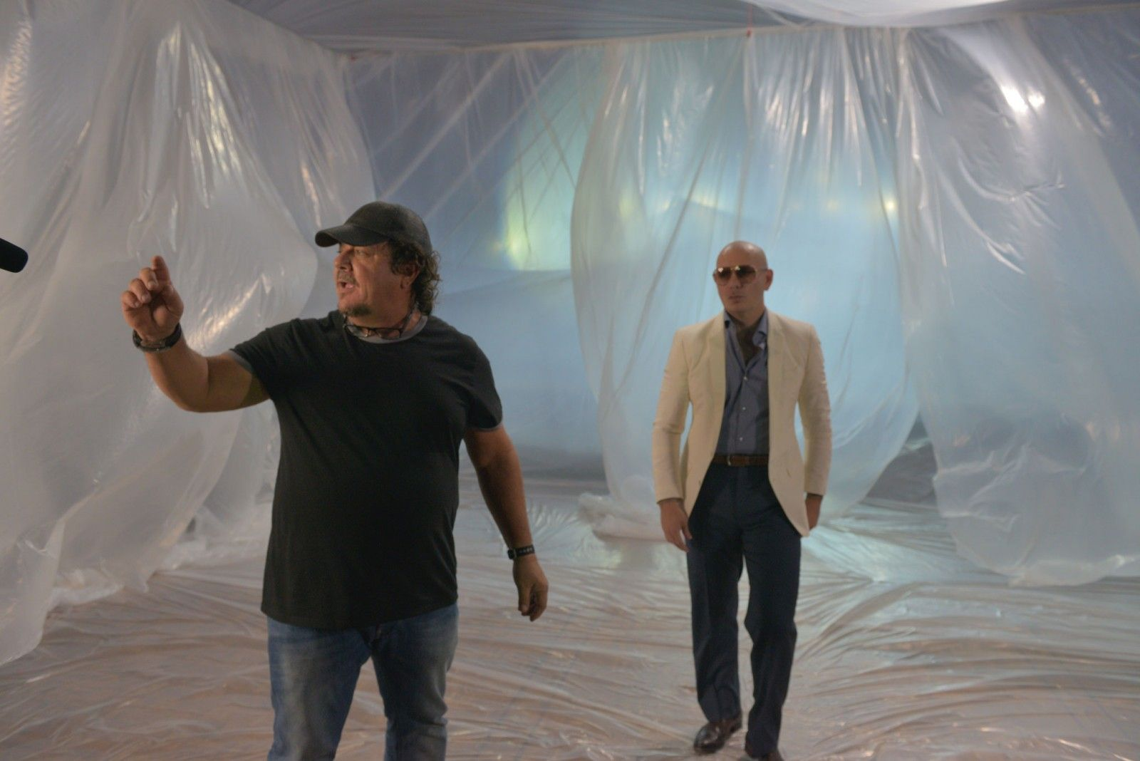 """Filming of """"Let Me Be Your Lover,"""" by Enrique Iglesias ft. Pitbull. Photo: Taken from the artist's website."""