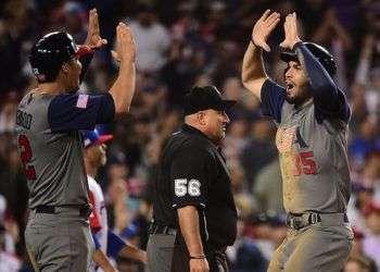 Los estadounidenses avasallaron al hasta entonces invicto Puerto Rico en la final del Clásico. Foto: @WBCBaseball.