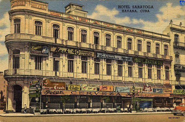 An old postcard of the Saratoga Hotel. Photo: cubaism.com.