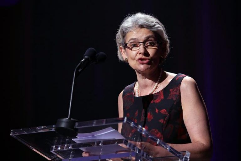 UNESCO General Director Irina Bokova during the celebration of International Jazz Day in the Alicia Alonso Grand Theater of Havana. Photo: EFE.