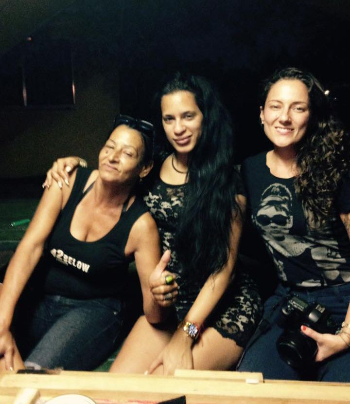 """""""The three musketeers together at last"""": Liset Barrios on her Facebook page when publishing this photo in which Marta Amaro and Lisette Poole appear. September 2016."""