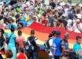 Tradicional conga de La Piragua al Pabellón Cuba en la X Jornada Cubana contra la Homofobia y la Transfobia. Foto: Luis Gabriel.