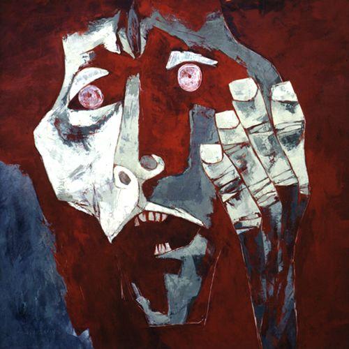 """Cabeza de napalm"", of the serie ""The Age of Wrath"". Osvaldo Guayasamín."