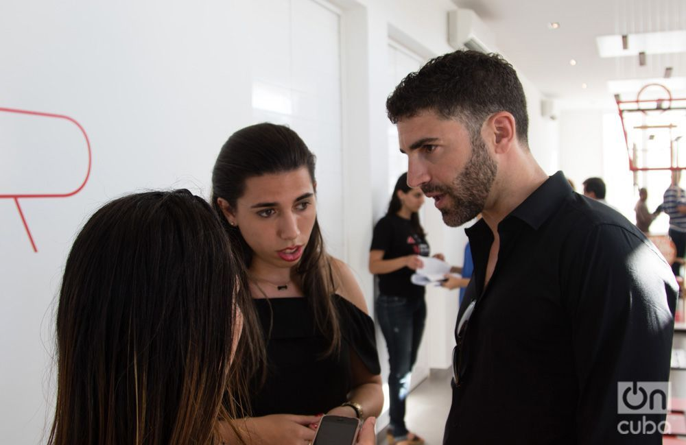 Pino Fortunato, presidente del jurado del Concurso Desgn Havana y director ejecutivo de EcoArt Project. Foto: Ismario Rodríguez.