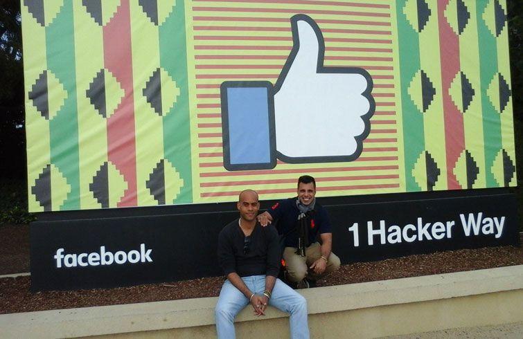 Víctor y Fabián en Silicon Valley. Foto: NinjaCuba/Facebook.