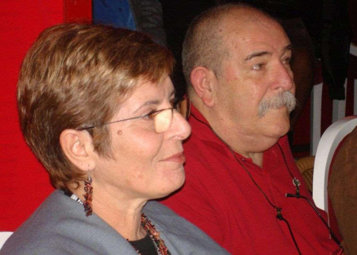 Alberta Durán y Juan Padrón.