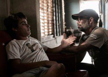 """El actor Damián González (izq) y Armando Capó, director de """"Agosto"""". Foto: Cortesía de Damián González."""