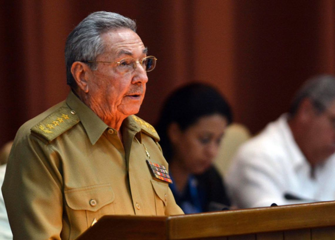 Raúl Castro pronuncia discurso durante la primera reunión ordinaria de la Asamblea Nacional del Poder Popular. Viernes 14 de julio de 2017, en La Habana. Foto: Marcelino Vázquez / EFE.