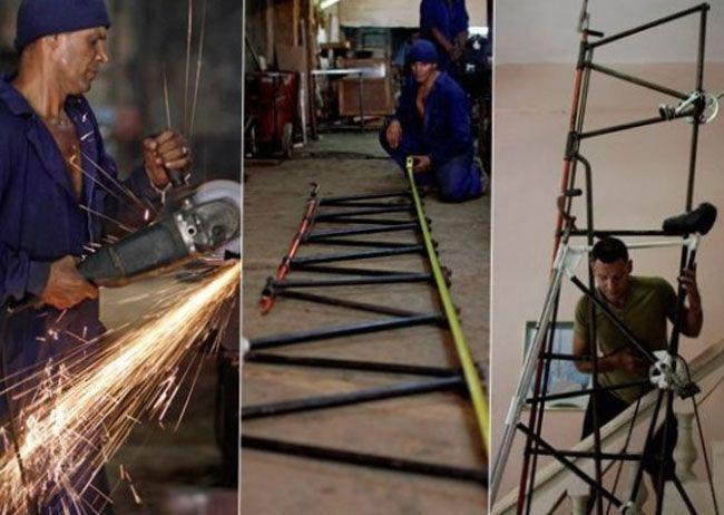 Como soldador experto, Guirola prepara sus propias bicicletas gigantes. Foto: cortesía del entrevistado.