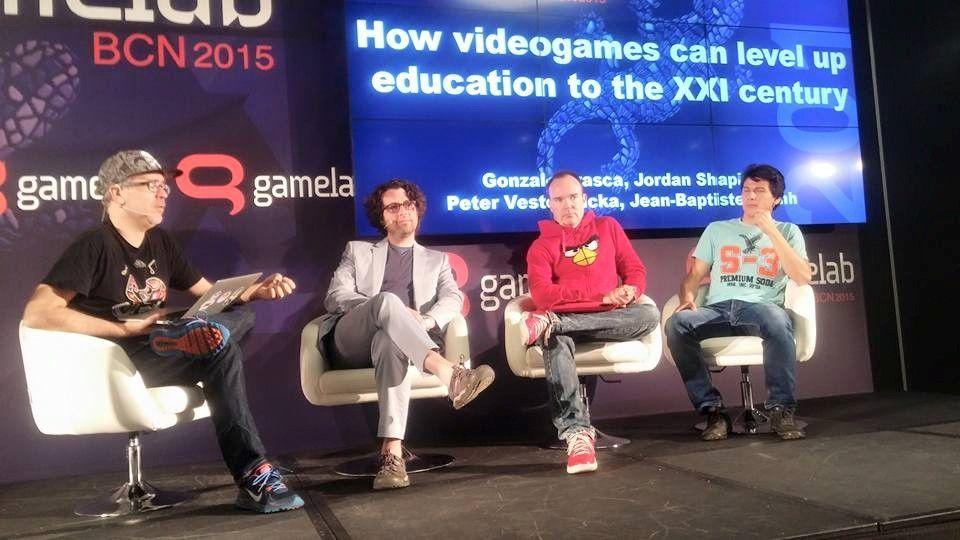 Panel sobre videojuegos y educación en Gamelab 2015. Foto: Álvaro González.