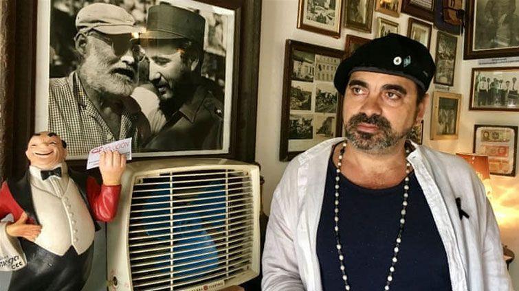 Mariano Gil de Vena en su café de Santa Clara. Foto: Al Jazeera.