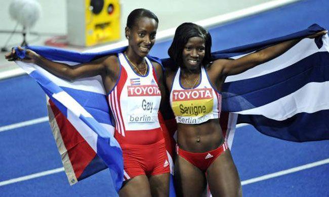 Yargelis Savigne (derecha) y Mabel Gay hicieron un histórico 1-2 en el Mundial de Berlín 2009.