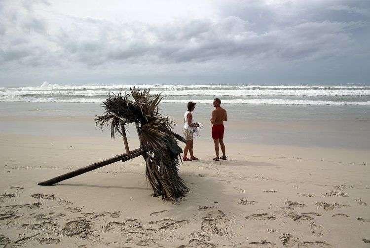 Los polos turísticos han sido afectados por el huracán Irma. En la foto, Varadero el domingo 10 de septiembre, un día después del paso de Irma por Cuba. Foto: Alejandro Ernesto / EFE.