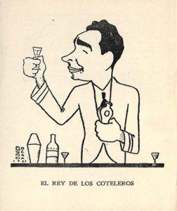 A 1939 caricature of Constantino Ribalaigua.