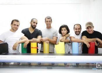 El equipo de Estampa Habana. Foto: Gabriel Guerra Bianchini.