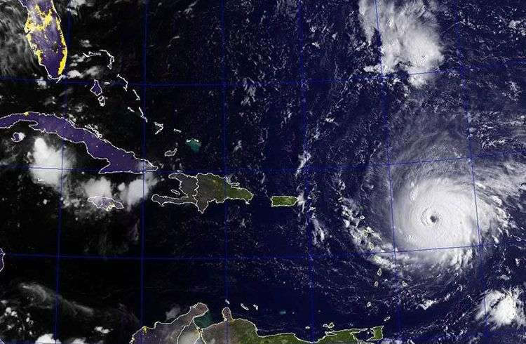 Imagen de satélite del huracán Irma.