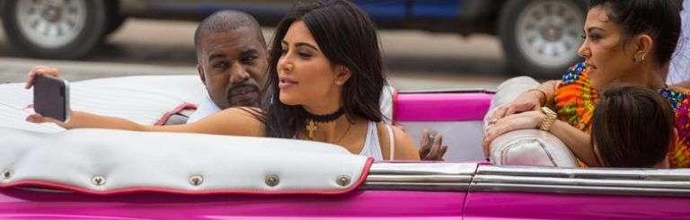 Kim Kardashian en La Habana en mayo de 2016. Foto: Desmond Boyland / AP.