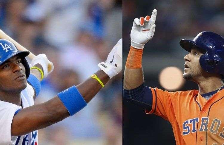 Puig y Yuli Gurriel se enfrentarán en la Serie Mundial. Fotos: dodgersnation.com y khou.com.