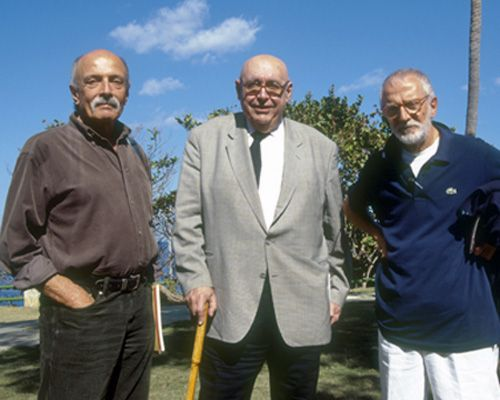 From left to right, Roberto Gottardi, Ricardo Porro and Vittorio Garatti.