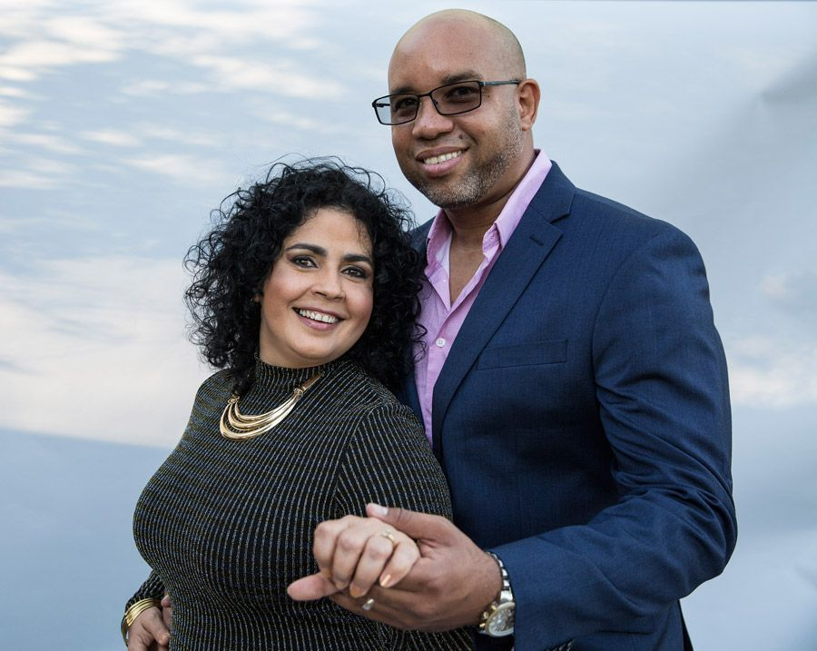 Yeny Valdés y su esposo, el músico Erick Barbería. Foto: Tom Ehrlich.