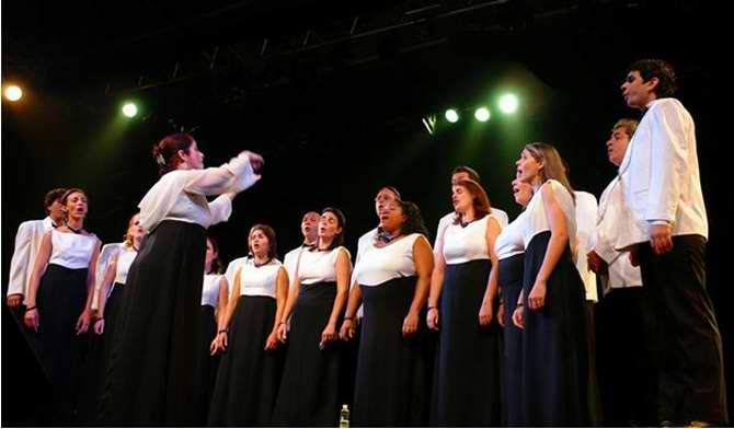 Schola Cantorum Coralina. Foto: Cortesía del Teatro Nacional de Cuba.