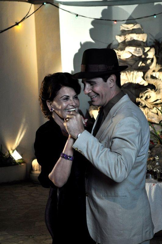 Mirtha Ibarra junto a Edwin Fernández en el filme Bailando con Margot. Foto: Cortesía de la entrevistada.