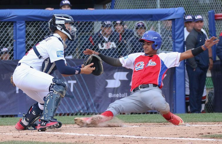 Estados Unidos, a la postre campeón, fue uno de los victimarios de Cuba. Foto: Béisbol-Facetas.