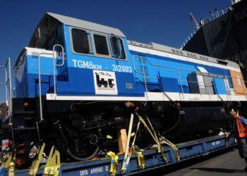 Locomotora rusa de un lote llegado a Cuba en 2017. Foto: Prensa Latina / Archivo.