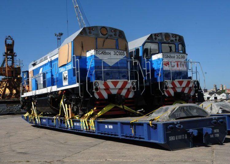 Locomotoras rusas llegadas a Cuba en 2017. Foto: Prensa Latina.