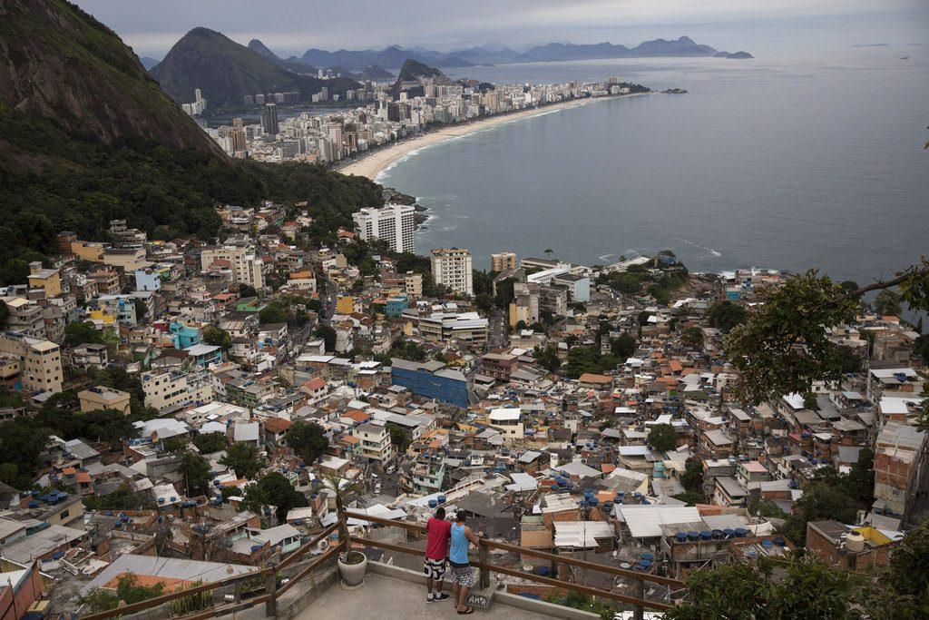 Río de Janeiro vista desde la favela Vidigal. Foto: Renata Brito / AP.