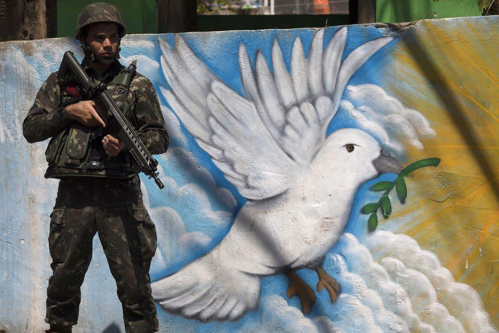 Complejo de favelas Lins de Río de Janeiro, marzo de 2018. Foto: Leo Correa / AP.