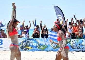 Cuba ganó la medalla de oro entre las mujeres en el circuito de Norceca, en Varadero. Foto: Ernesto Beltré.
