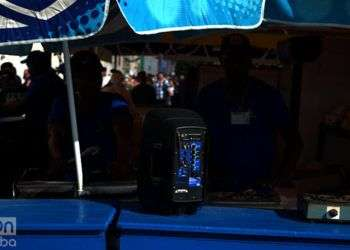 Bocinas portátiles en la Feria. Foto: Otmaro Rodríguez.