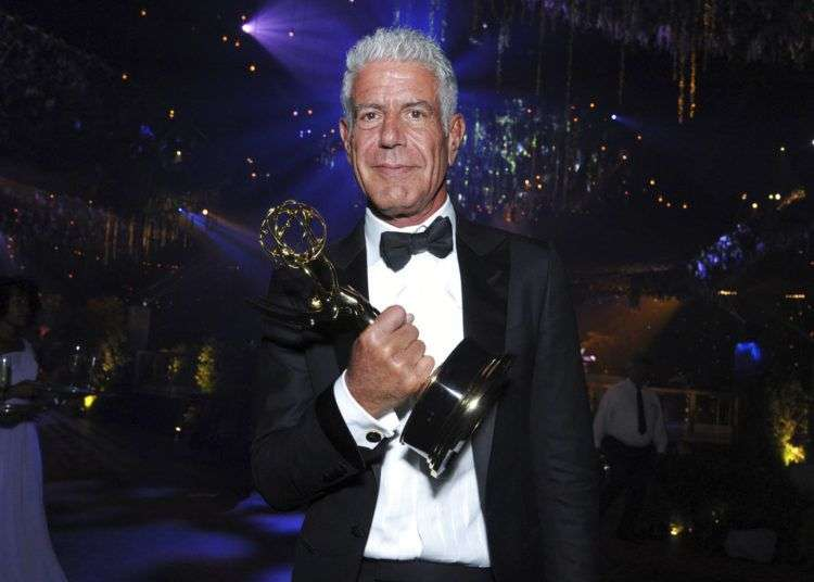 "El chef Anthony Bourdain al recibir un premio por su serie ""Anthony Bourdain: Parts Unknown"" en Los Angeles, el 11 de septiembre de 2016. Foto: Richard Shotwell / Invision / AP."