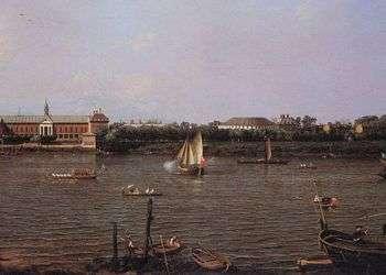 El Colegio de Chelsea, la Rotonda, la casa Ranelagh y el río Támesis, 1751. Autor: Canaletto.