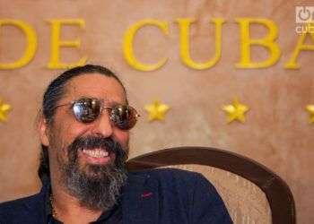 Diego El Cigala presentó en 2018 en La Habana el documental Indestructible. El alma de la salsa. Foto: Claudio Pelaez Sordo.