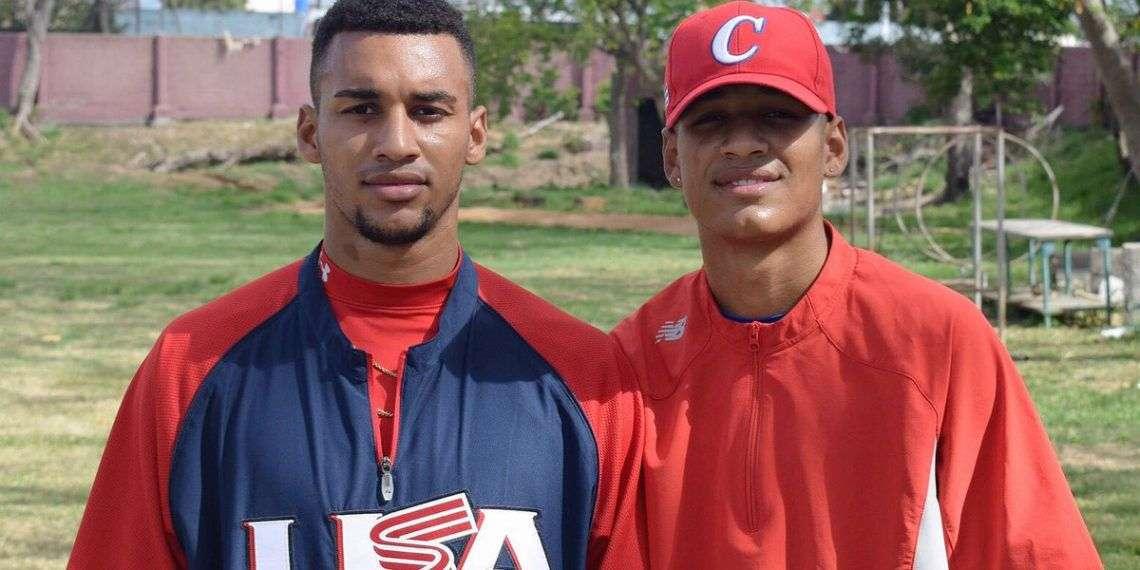 Victor Victor y Victor Mesa Junior. Foto: @victorvmesa