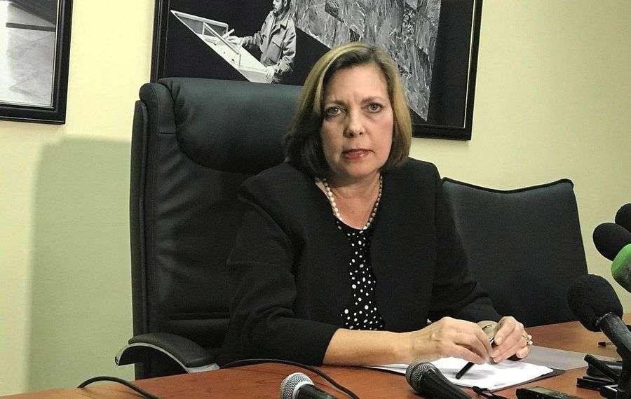 Josefina Vidal, directora general para Estados Unidos, en conferencia de prensa en la Cancillería cubana. Foto: @CubaMINREX.