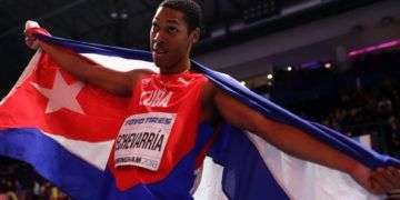 Juan Miguel Echevarría ganó el Campeonato Mundial de Atletismo Bajo Techo. Foto: rds.ca.